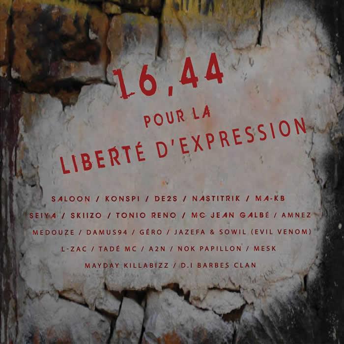 16,44 pour la liberté d'expression