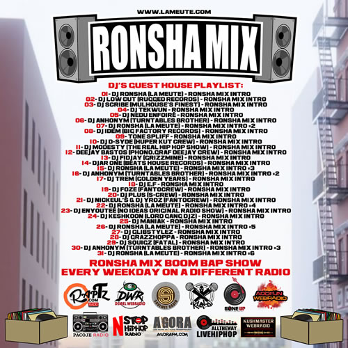 back RONSHA MIX DJ'S GUEST Dj's guest house