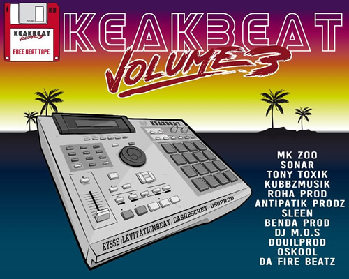 Keakbeat vol 3 - free beat tape