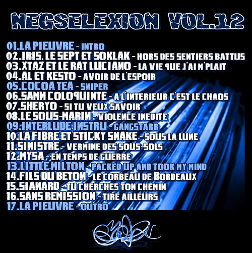 back Neg'Selexion 12
